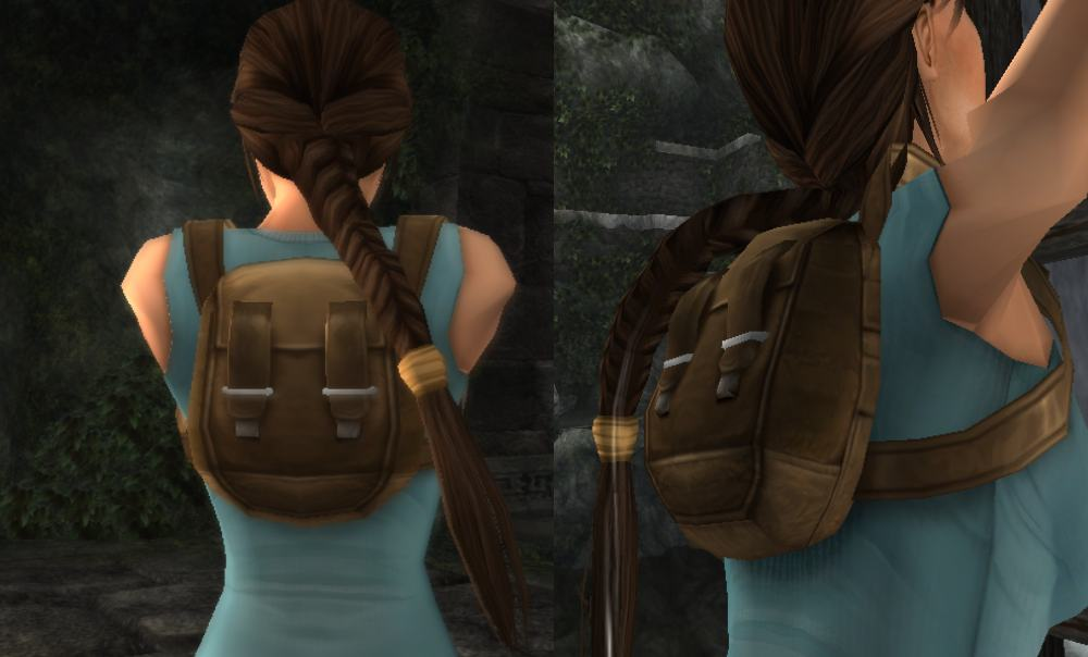 How to make the tomb raider anniversary backpack