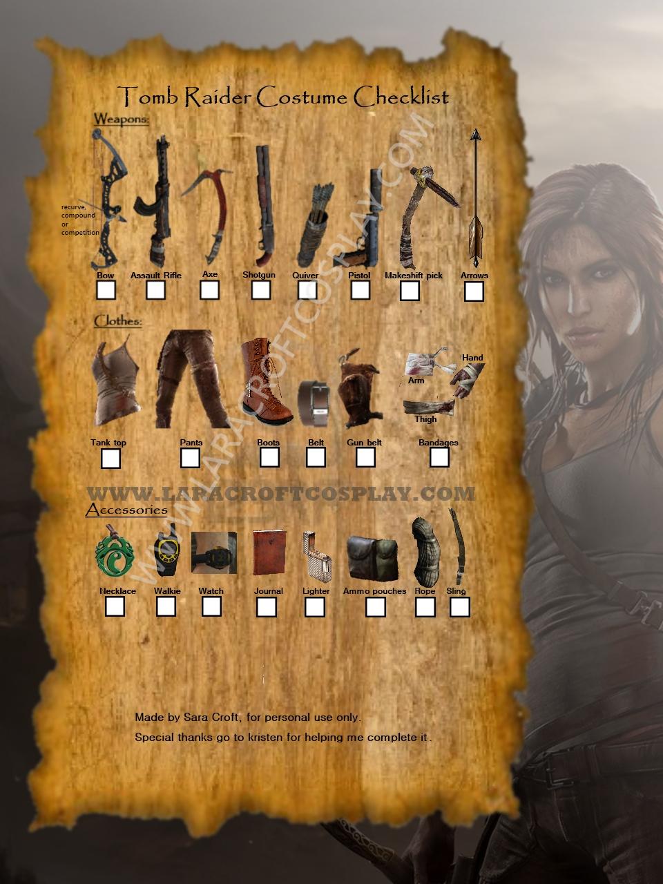 Lara Croft Costume Gun Holster